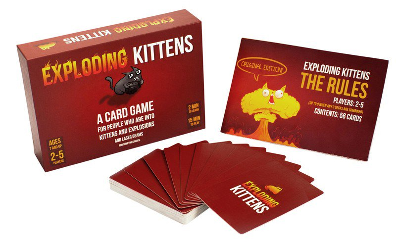 Exploding Kittens Box and Cards