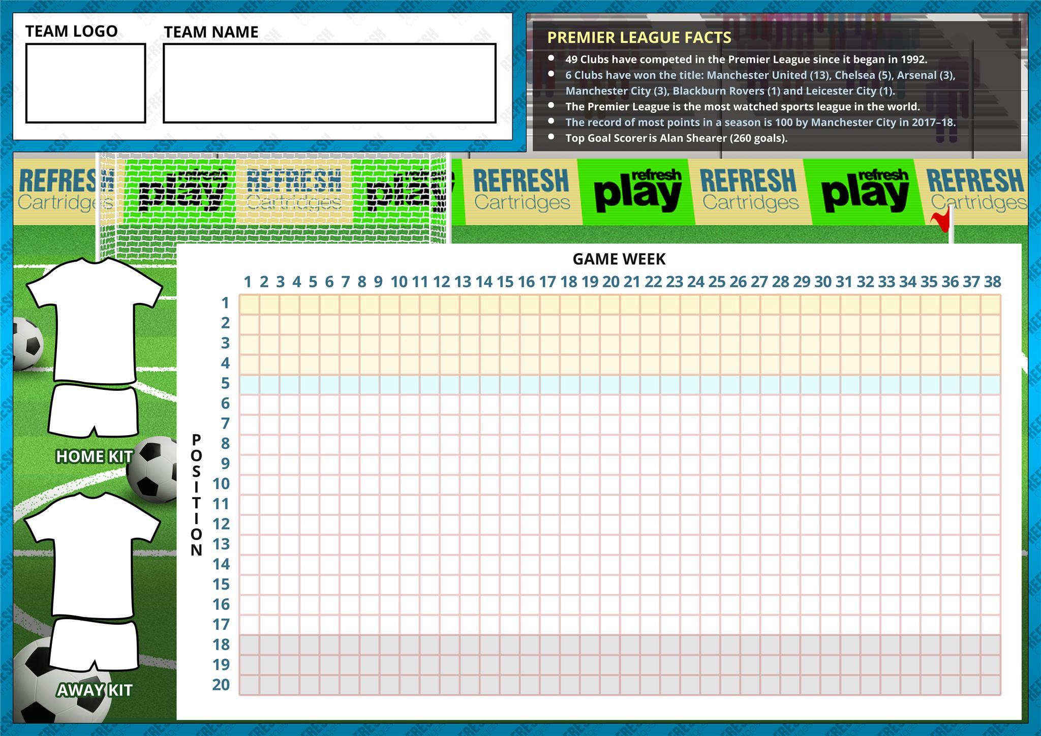 Premier League Team Tracker